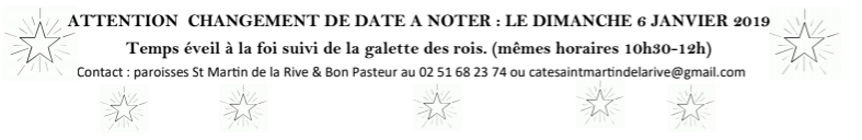 Célébration d'éveil à la foi @ Salle paroissiale de Challans | Sallertaine | Pays de la Loire | France