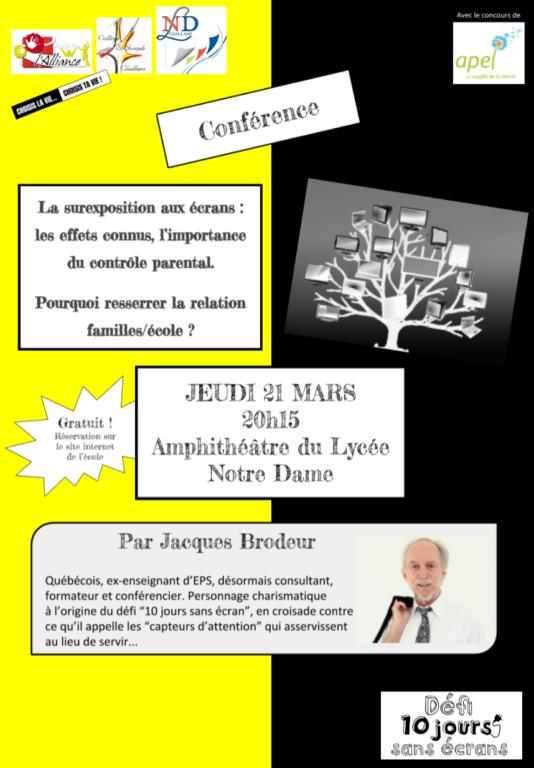 Conférence de Jacques Brodeur