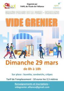 Vide Grenier organisé par l'Apel @ Grand Palais de la Foire